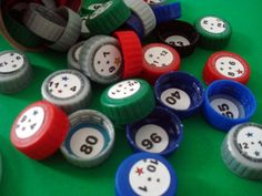 Juegos didácticos con material reciclado. Aprendiendo matemáticas, tapas de botellas. materiales reciclados y matemáticas