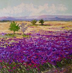 Pradera en violeta Acrílico