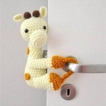 Tranca-Portas Crochê Girafa Zefa