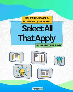 Practice answering select all that apply (SATA) questions for your NCLEX! Included in this free nursing test bank are 100 questions that are all multiple-response type covering different topics in nursing. Also in this article are tips on how to answer SATA questions.  [NEW] Select All That Apply NCLEX Practice Questions and Tips (100 Items) Nursing Exam, Nursing Math, Nursing School Notes, Cardiac Nursing, Nursing Tips, Nursing Students, Nclex Questions, Nclex Practice Questions, 100 Questions