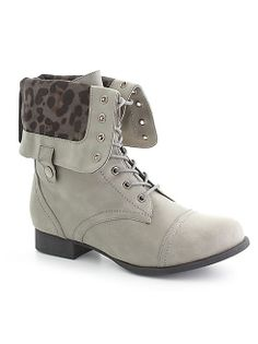 dots: Wide Calf Fold Over Combat Boot Available in a few different styles!