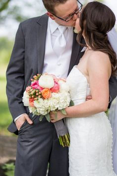 Coral-Infused Summer Wedding at Grace Place | ,