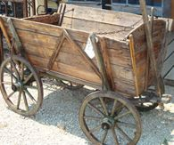German Goat wagon, beautiful, would love to have in the front yard for flowers!features for decrepit garden