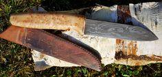 Jagdmesser der Telchinen-Schmiede aus Schicht- und Torsionsdamast