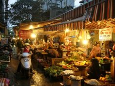 Night market in Hanoi, Vietnam