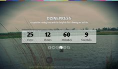 A Responsive Coming Soon Web Layout Design with Free PSD File - Dzinepress