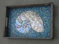 Stained Glass Mosaic Tray by misty