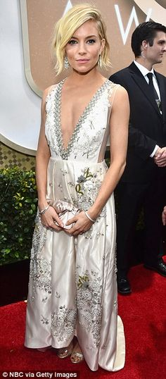 Two big roles: The glamorous star - pictured at the Golden Globes - says the transition fr...