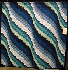 """""""John's Surf Song"""" pattern from """"Twist & Turn Bargello"""" by Eileen Wright. (sissy)"""