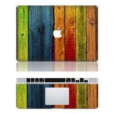 Woodgrain Macbook Protective Decals Stickers Mac Cover by MMDecal Calcomanía Macbook, Apple Laptop Macbook, Macbook Decal Stickers, Mac Decals, Macbook Pro Cover, Funny Decals, Vinyl Decals, Mac Stickers, Apple Stickers