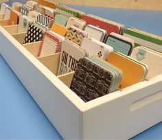 Journaling Card organizer from OrganizeMore. Holds 5000 cards!