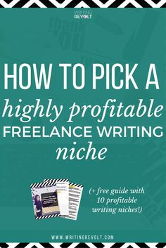 Wondering how to start freelance writing or make money writing online so you can quit your 9-to-5? You're definitely going to need to pick a niche to win high-paying freelance writing clients! This post will help you make it happen :) www.writingrevolt...