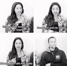 Stephen and Ayesha Curry Stephen Curry Wife, Stephen Curry Family, The Curry Family, Ayesha And Steph Curry, Ayesha Curry, Basketball Memes, Basketball Motivation, Curry Basketball, Sports Memes