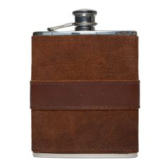 Moore & Giles Leather Wrapped Flask #flasks #mensgift