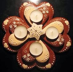 Xmas, Christmas Ornaments, Advent, Gingerbread, Panna Cotta, Candle Holders, Candles, Cookies, Holiday Decor