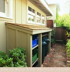 How To Build A DIY Recycling Center #outdoor #kitchen #ideas
