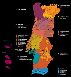 Portugal's wine regions (map)
