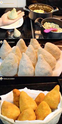 COXINHA CREMOSA DE LIQUIDIFICADOR – SUPER FÁCIL #coxinha #coxinhafacil #salgados #festa #cozinha #receita #receitafacil #receitas #comida #food #manualdacozinha #aguanaboca #alexgranig