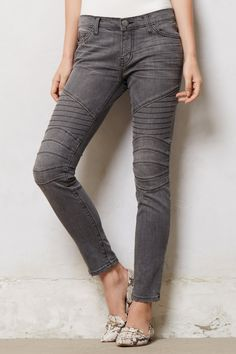 Current/Elliott Moto Ankle Skinny Jeans - @Anthropologie.com #anthrofave #denim #fall13