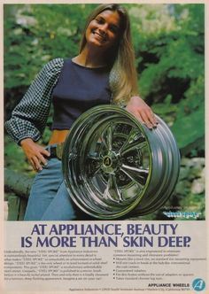 Some wheel cataloque stuff. Retro Advertising, Vintage Advertisements, Vintage Ads, Rims And Tires, Chrome Wheels, Drag Cars, Old Ads, Drag Racing, Hot Cars