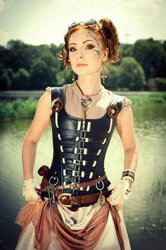 Lovely steampunk lady.