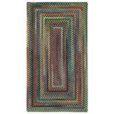 """Capel High Rock Green Striped Area Rug Rug Size: Round 9'6"""""""