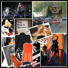 """Orange traffic cones"" by jeniaa ❤ liked on Polyvore"