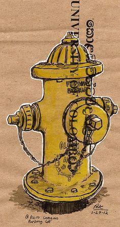 another davis hydrant Fire Hydrants, Street Furniture, Graphic Design, Art, Fire Department, Urban Furniture
