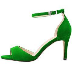 Zbeibei Women's Peep Toe Faux Velvet Stilettos Pumps High Heels Sandals(ZBB1071VE41,green) - http://all-shoes-online.com/zbeibei/9-5-b-m-us-zbeibei-womens-peep-toe-stilettos-pumps-5