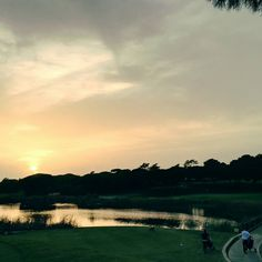 Algarve #sunset over #golf course @quintadolago #quintadolago #golfclub #Portugal