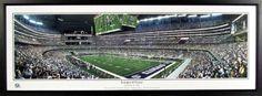 Dallas Cowboys New Texas Stadium Inaugural Game Panoramic Framed