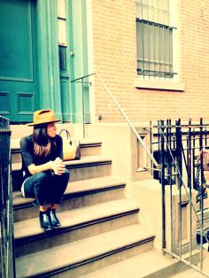 The #NYC stoop life with Tasya Van Ree for Louis Vuitton's W Bag. Exclusive behind the scenes images from @Matty Chuah Coveteur