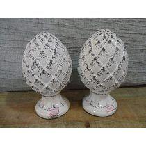 #19008 - Par Pinhas Porcelana Branca Colonial!!!