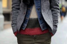 Like the textures and wide stripes.
