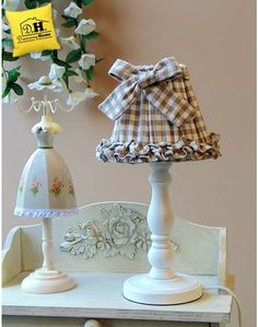 Lampada Angelica Home & Country Vichy Beige