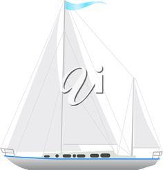 Royalty Free Clipart Image of a Sailboat Free Clipart Images, Royalty Free Clipart, Royalty Free Images, Boat Illustration, Sailing Boat, Sailboat, Transportation, Clip Art, Sailboats