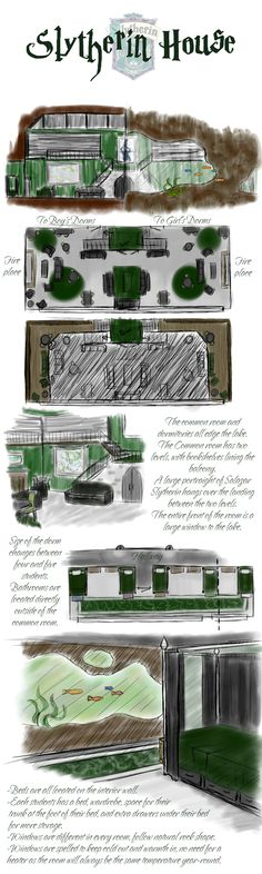 Slytherin House...because you should know one's enemies?