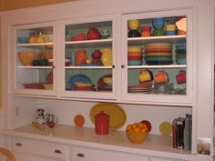 I need colorful dishes sooooo badly! Okay. Maybe I just want them. And a place to store them. Fiesta.