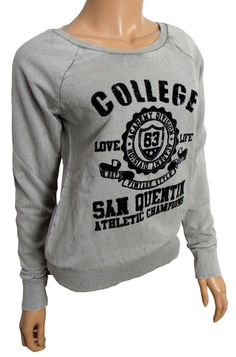 WOMENS NEW VINTAGE COUTURE COLLEGE EMBLEM SWEATSHIRT JUMPER GREY 8 10 14 16  18  a739b1cc1