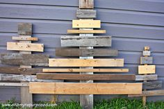 OhAmy: A Wood Pile Turned Favorite DIY Decor!Reclaimed wood trees!  #ohamydecor www.ohamyrepurposed.com
