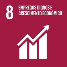 8 EMPREGOS DIGNOS E CRESCIMENTO ECONÔMICO Promover o crescimento econômico permanente, inclusivo e sustentável, empregos plenos e produtivos e trabalho decente para todos