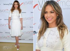 Jennifer Lopez in Elie Saab | Viva Movil Store Opening