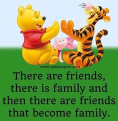 Friends and family quote via www.IamPoopsie.com