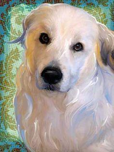 Great Pyrenees Pet Art Portrait