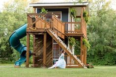 This Dad Built His Daughters the Most Incredible Backyard Playhouse