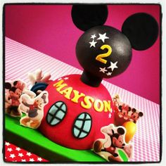 - * Mickey Mouse Clubhouse cake