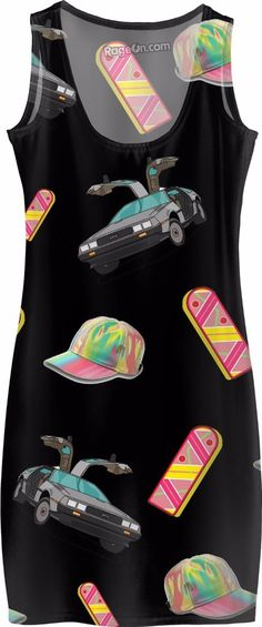 88 mph Dress Clothing Back to the Future Hoverboard Time Travel Delorean 1980's vintage fashion style rad awesome vaporwave Japan Hip Hop Street Style Wear music Apparel