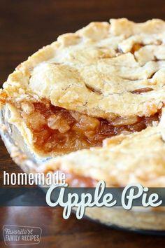 Traditional Homemade Appl / #Appl #Homemade #Traditional Homemade Apple Pies, Apple Pie Recipes, Tart Recipes, Just Desserts, Dessert Recipes, Baking Desserts, Dessert Ideas, Perfect Pie Crust, Family Meals