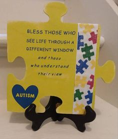Check out this item in my Etsy shop https://www.etsy.com/listing/543390028/autism-awareness-yellow-wooden-puzzle