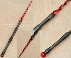 Wand of the Fire Mage by Natfoe on DeviantArt Anel Harry Potter, Harry Potter Wand, Wizard Staff, Wizard Wand, Potter School, Witch Wand, Diy Wand, Fantasy Weapons, Book Of Shadows